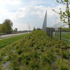biobased and biodegradble Biocovers alongside sportfields