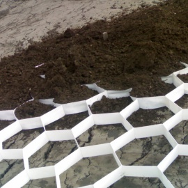 Biobased groundGrid soil stabilization system