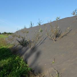 Biocovers Bioweedstop installation on steep slopes
