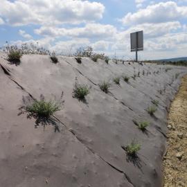 Paillage BIOCOVERS® contre les mauvaises herbes et l'érosion