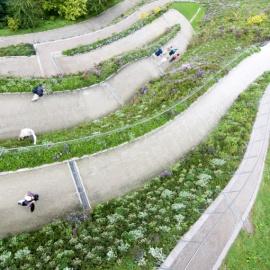 Biononwoven für Wandbegruenung und vertikale Gärten